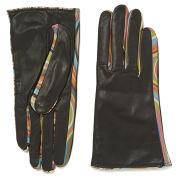 Paul Smith Accessories Women's Swirl Leather Insert Gloves - Black