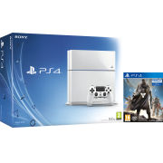 Sony PlayStation 4 500GB White Console - Includes Destiny