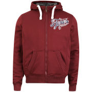 Smith & Jones Men's Lacarta Fur-lined Zip Through Hoody - Burgundy