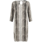VILA Women's Mamba Snake Print Dress - Grey