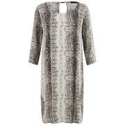 VILA Women's Mamba Snake Print Dress - Grey