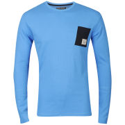 Jack & Jones Men's Front LS  Core T-shirt- Blithe Blue