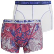 Oiler & Boiler Men's 2-Pack Print Boxers - Caribbean Pink