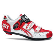 Sidi Genius 5 Fit Carbon Cycling Shoes - White/Red 2014