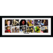 "Star Wars Prequel Characters - 30"""" x 12"""" Framed Photographic"