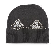 Markus Lupfer Stand Out Jewel Cat Ear Beanie Hat - Charcoal