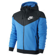 Nike Men's Windrunner Fleece Mix Jacket - Photo Blue