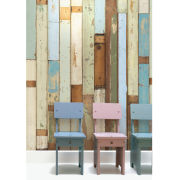 NLXL Scrapwood Wallpaper by Piet Hein Eek - Cream/Beige/Brown/Blue/Green