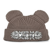 Markus Lupfer Knitted Cat Ear Beanie Hat - Biscuit