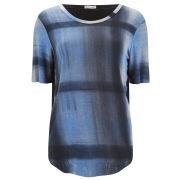 Draw in Light Women's Classic Tartan T-Shirt - Blue Tartan