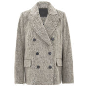 D.EFECT Women's Tallulah Double-Breasted Wool Jacket - Silver/Grey