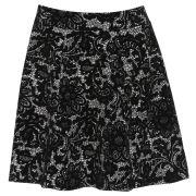 Damned Delux Women's Jasmine Skater Skirt - Ivory/Black