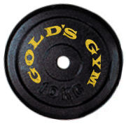 Gold's Gym 10kg Cast Iron Plate