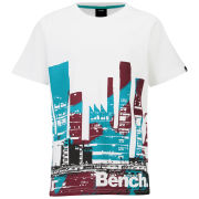 Bench Boys' Painted City T-Shirt - White