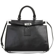 French Connection Air Of Elegance Handheld Leather Tote Bag – Black