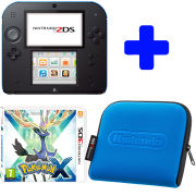 Nintendo 2DS Console (Black & Blue): Bundle includes Pokémon X  + Blue Nintendo 2DS Case