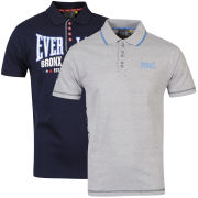 Everlast Men's 2-Pack Branded Polo Shirts - Navy/Grey Marl