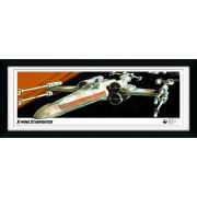 "Star Wars X-Wing Starfighter - 30"""" x 12"""" Framed Photographic"