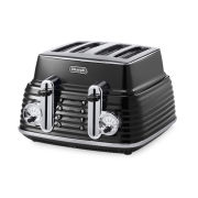 De'Longhi Scultura 4 Slice Toaster - Black High Gloss