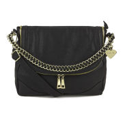 Marc B Izzy Large Double Zip Shoulder Bag - Black