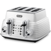 DeLonghi CTZ4003 Scultura 4 Slice Toaster - White Gloss