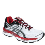 Asics Men's Gel Cumulus 15 Running Trainers - White/Black/Red Pepper