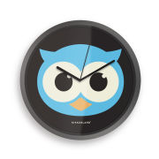 Owl Glow in the Dark Clock