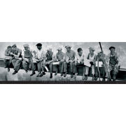 New York Men on Girder - Midi Poster - 30.5cm x 91.5cm