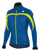 Sportful Performance Men's WS Ascent Jacket - Marine Blue/Yellow Fluo