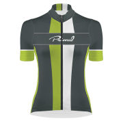 Primal Exion Women's Helix Short Sleeve Jersey - Grey/Green/Black/White