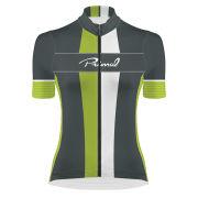 Primal Exion Women's Helix Short Sleeve Jersey - Grey/Green/Black/White