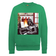Star Wars Christmas Darth Vader Piano Player Sweatshirt - Irish Green