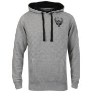 Ringspun Men's Overall Quilted Hoody - Grey Marl