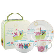 Little Rhymes The Owl and the Cat 3 Piece Breakfast Set Gift Box - Multi