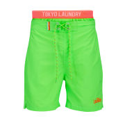 Tokyo Laundry Men's Campion Swim Shorts - Neon Green