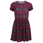 Influence Women's Tartan Print Dress - Red