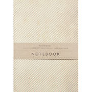 Katie Leamon Green-Pink Stripe Notebook