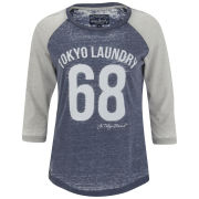 Tokyo Laundry Women's Bella Three Quarter Sleeve Top - Eclipse Blue