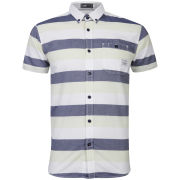 Jack & Jones Men's Bobo Shirt - Federal Blue/Optical White