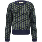 Orla Kiely Women's Kitten Fairisle Sweater - Green/Navy