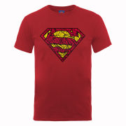 DC Comics Men's T-Shirt - Superman Shatter Logo - Cherry Red