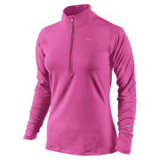 Nike Women's Element Half Zip Long Sleeve Top - Pink