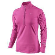 Nike Women's Element Half Zip Long Sleeve Top - Pink