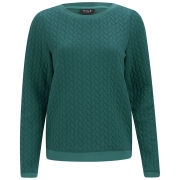 VILA Women's Brady Textured Jumper - Everglade