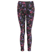 Damned Delux Women's Dark Painterly Floral Leggings - Multi