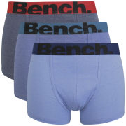 Bench Men's 3 Pack Boxers - Navy/Grey Marl
