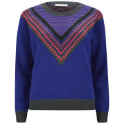 Paul by Paul Smith Women's Fair Isle Knit Jumper - Blue Multi