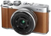 Fujifilm X-M1 Compact System Camera with 16-50mm IS Lens (HD 1080p, 16MP, Wi-Fi, 3 Inch LCD) - Tan