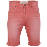 Brave Soul Men's Venice Denim Shorts - Coral