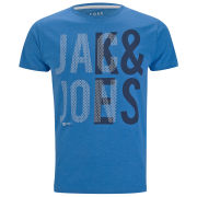 Jack & Jones Mens Mesh T-Shirt - Directorie Blue